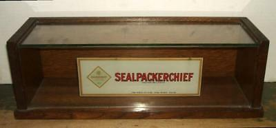 Early 1900's Sealpackerchief Handkerchief Counter Display Case
