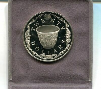 British Virgin Island $20 Caribbean Silver Proof Coin Chinese Teacup