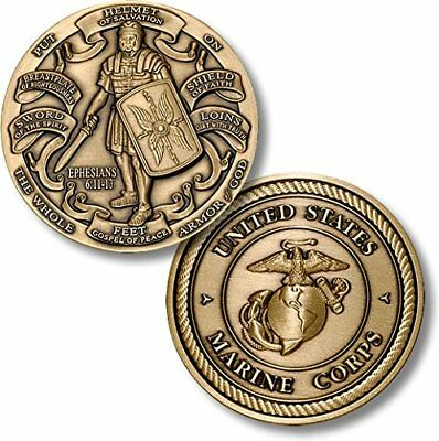 Armor of God High Relief - Marine Corps Challenge Coin