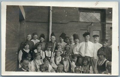 Ukrainian Group Antique Real Photo Postcard Rppc