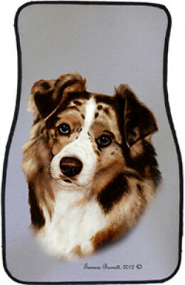 Car Floor Mats Pair - Red Merle Australian Shepherd 36202
