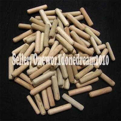 "3/8"" / 10mm Diameter Fluted Grooved Wooden Wood Dowel Pins for Woodworking Craft"