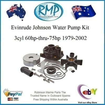 A New Water Pump Kit Evinrude Johnson 3cyl 60hp-thru-75hp 1979-2002 # R 436957