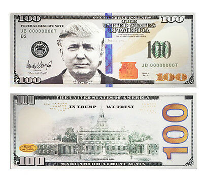 President Donald Trump $100 Bill Refrigerator Magnet USA Currency America Great