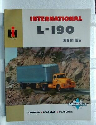 Vintage IH International Harverster TRUCK BROCHURE L-190 Series 20 pages