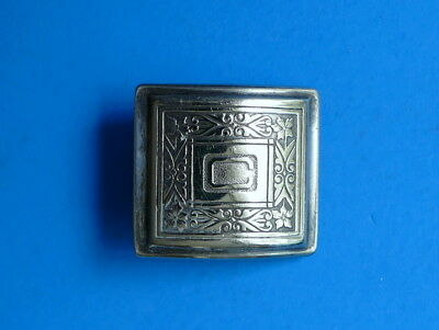 Letter C Initial Silver Belt Buckle VINTAGE Rare Antique 1921 Chris Caleb Connor