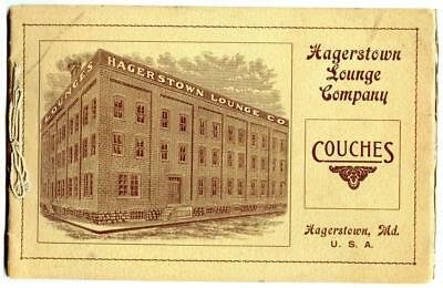 1905 Hagertown Lounge Company Couch Furniture Catalog Hagerstown Maryland