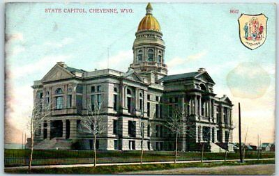 CHEYENNE, WYOMING POSTCARD State Capitol TUCK'S Oilette