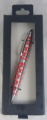 Disney Parks Mouse Ears Red Spots Executive Pen Black Ballpoint Ink - NEW