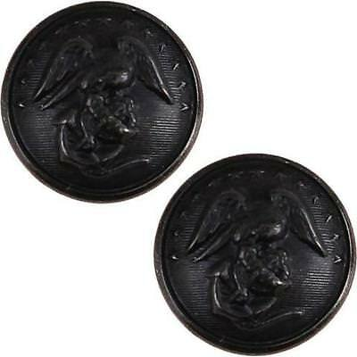 USMC Marine Corps Button 27 Ligne Screw Back   buttons  (Made in USA)  (1 Pair)