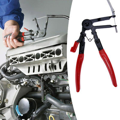 Flexible Long Reach Hose Clamp Pliers Fuel Oil Clip Removal Ratchet Locking Tool