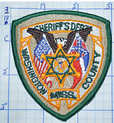"Mississippi, Washington County Sheriff's Dept Small 3.25"" Hat Patch"