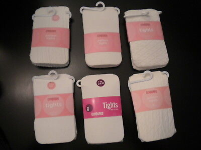 NWT Gymboree Cream Basic Cable Pointelle Pattern Tights 5-7 6 8-10 9