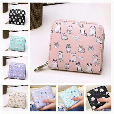 Cute Women Wallet Lady Purse Clutch Leather Short Small Bag Card Coin Holder