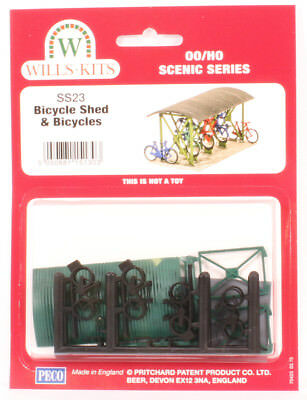 Wills Oo Scenic Series Ss23 Bicycle Shed With Bicycles Wss23