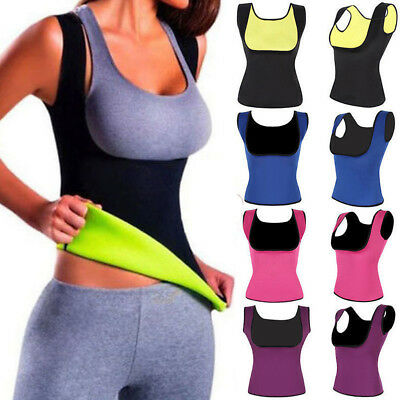 Women Sweat Sauna Body Shaper Slimming Thermo Neoprene Waist Sports Vest Trainer