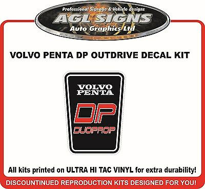 VOLVO PENTA DP duoprop Outdrive Decal Kit  reproductions