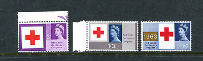 Great Britain 398-400, 1963 Red Cross, Mnh  (Id7195)