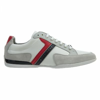 d864484fe Hugo Boss Spacit Mens 50247632-128 Open White Suede Nylon Casual Shoes Size  9