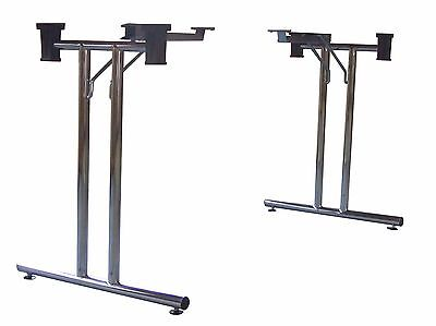 Ex-Demo Pair of Folding Table Frame Legs, ideal for Office, Card, Gaming or Exam