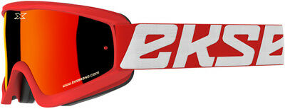 EKS Brand GOX Flat-Out Goggle Red (Red Mirror Lens)
