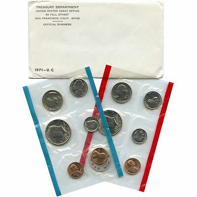 1971 P and D United States Mint Uncirculated Coin Set