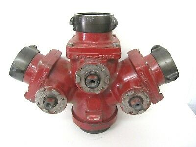 Akron Brass 2583 3 Way Suction Siamese Valve WYE Firefighting Equipment