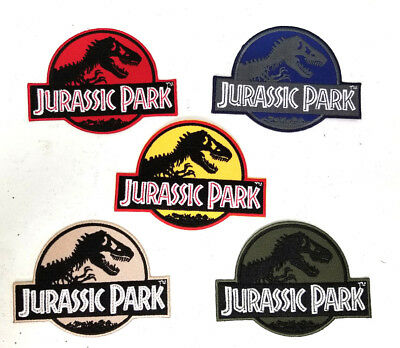 """Jurassic Park Logo 4"""" Wide Embroidered Patch- 5 Colors- Mailed from USA-FREE S&H"""