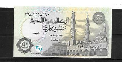Egypt Egyptian #62L Unc Mint  2017 Security Feature 50 Piastres New Banknote