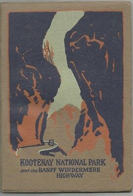 Kootenay National Park Booklet 1930, Invermere, BC Radium Hot Springs, Blakley's