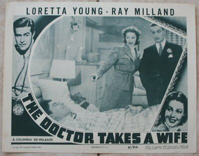 Lobby Card, Loretta Young & Ray Milland, The Doctor Takes a Wife (1947) rrr10512