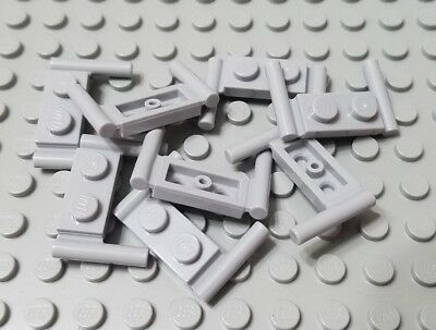 Lego 10 Light Bluish Gray 1x2 plate tile with handle NEW