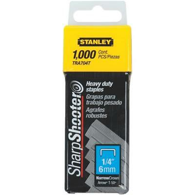 """(56)-Stanley SharpShooter 1/4"""" Leg X 7/16"""" Wide Staples (1000-Pack) TRA704T"""