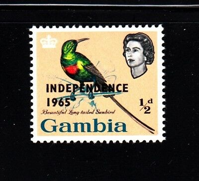 1965 Queen, Sunbird - MNH OVPT Sc 193, Gambia Collector