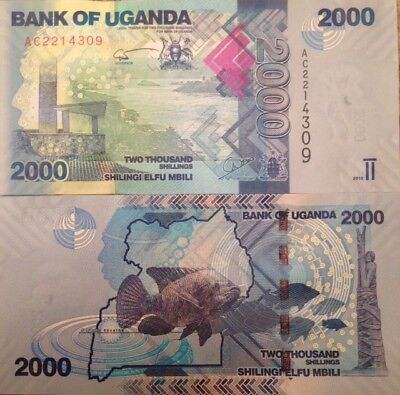 Uganda 2010 2000 Shillings Uncirculated Banknote P-50 Buy From A Usa Seller