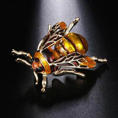 Fashion Bee Brooches Unisex Insect Brooch Pin Jewelry Cute Small Badges Jewelry