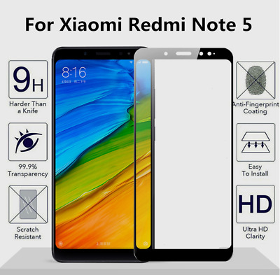 1-10X Premium Tempered Glass Screen Protector Film for Xiaomi Redmi Note 5 Lot