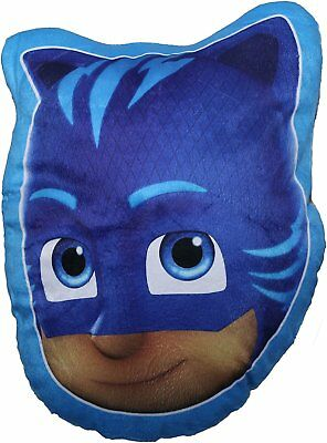 New Official Childrens Cat Boy Shaped Pj Mask Cushion Pillow