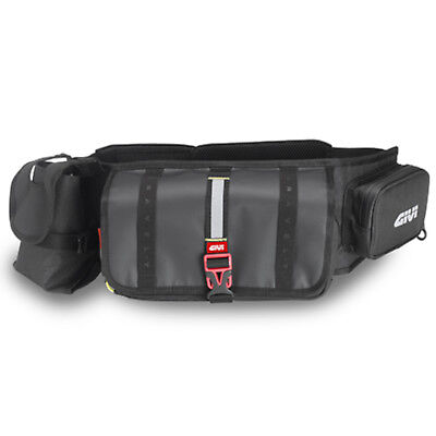 Givi GRT710 Gravel Waist Motorcycle Motorbike Portable Waterproof Bag - Black