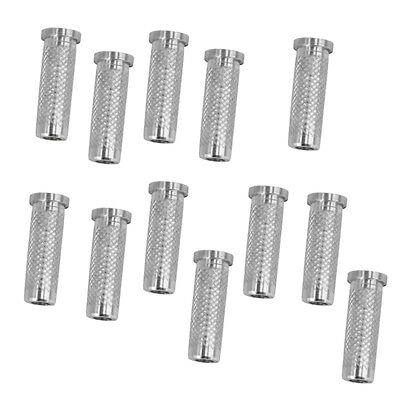 12x 6.2mm Silver Aluminum Archery Insert Base Replace for Arrow Shaft Practi WY