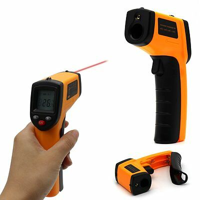 Digital Infrared Temperature Temp Gun Thermometer Non-Contact IR Laser Point MU