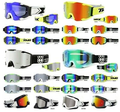 TWO-X Crossbrille BOMB V2 MX Enduro Motocross Brille Downhill klar verspiegelt