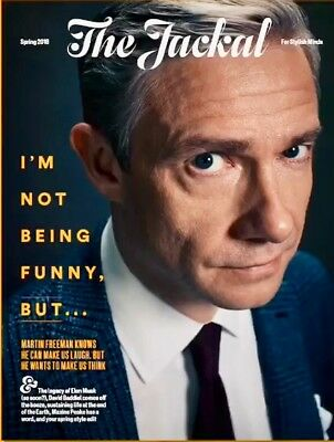 Martin Freeman - Uk British Jackal Magazine - March 2018 - Brand New