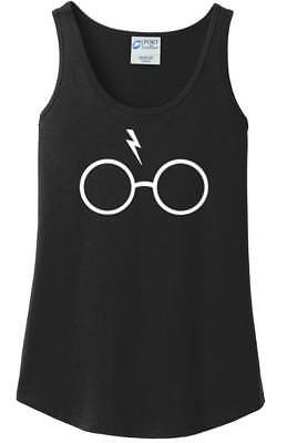 Ladies Harry Potter Lightning Bolt Glasses Hogwarts Women's Parody Tank Top
