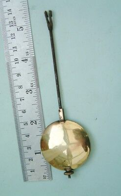 Clock makers French Clock pendulum with brass bob nice spare clock for repairer