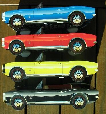 8 ~ Chevy Camaro Cardboard Cars Kids Food Box Tray Table Center Party Favor