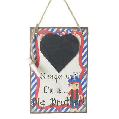 Days Pirate Until Big Brother Countdown Chalkboard Baby Due Chalkboard NHH101-HS