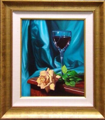 William Martin Original Oil Paintings on canvas framed Hand Signed yellow rose