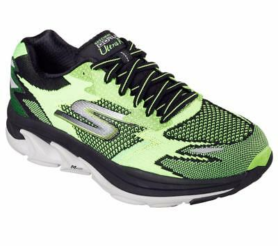 9dc7a81423cd NEW MEN S SKECHERS Go Run Ultra R-Road Shoes Lime Black 54005 LMBK ...