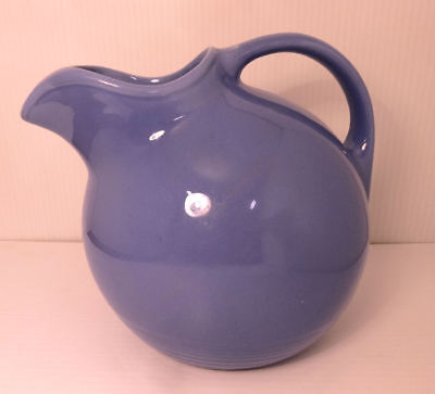 Homer Laughlin China Harlequin Mauve Blue Periwinkle Ball Ice Lip Water Pitcher